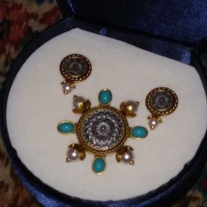 Avon Jewelry - Avon Turquoise Presidents Council 3 Pc Award Set
